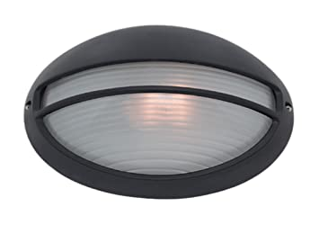 Outdoor and porch bulkhead wall light in black amazon garden outdoor and porch bulkhead wall light in black aloadofball Choice Image