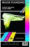 Black Diamond Lot de 5 toiles canevas en 100% coton pour imprimante jet d'encre FormatA3 350g/m²