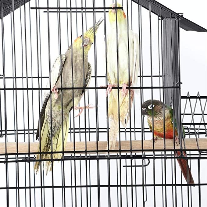 Yaheetech Jaula para Pájaros Jaula Metálica con Soporte Ruedas ...