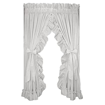 Stephanie Country Ruffle Priscilla Curtains Pair 86 Inch By 54