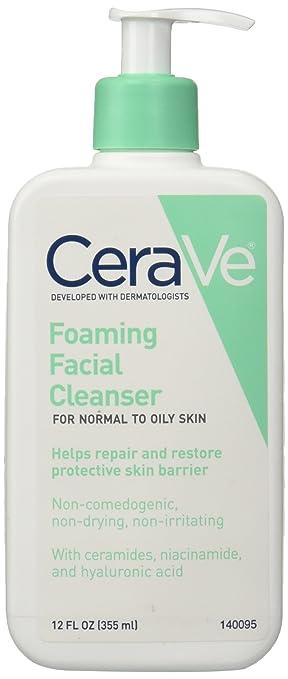 CeraVe Foaming Facial Cleanser 12 oz (Pack of 2) JORDANA Sweet n Smooth Nourishing Lip Balm - Sweet Mango