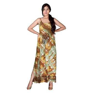 The Living Craft Spaghetti Strap Tie N Dye Maxi Dress With Celtic