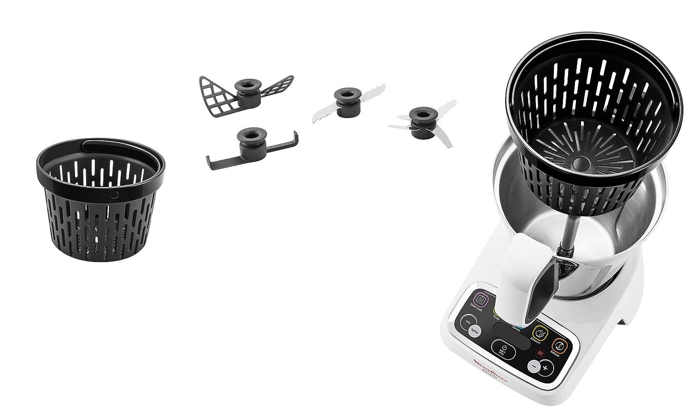 Moulinex HF4041 Robot Multifonctions 1000 1,5 L Blanc//Gris Fonc/é