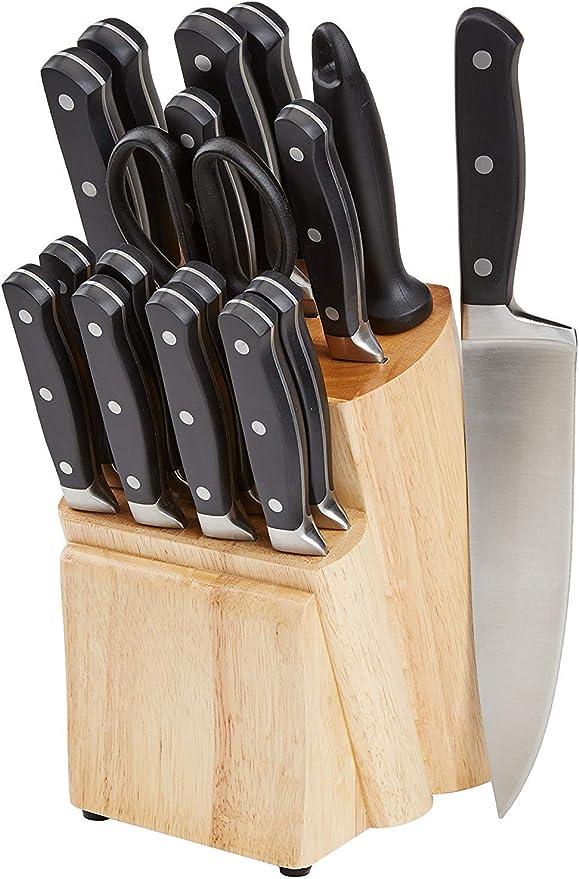 Compra AmazonBasics Premium - Juego de cuchillos de cocina y ...