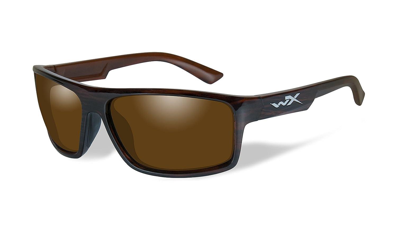 36c8fae9704 Amazon.com  Wiley X WX Peak Polarized Amber Lens Gloss Layered Tortoise  Frame  Sports   Outdoors