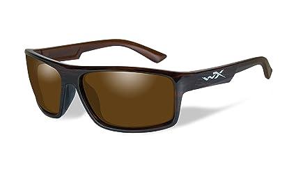 c0e54a0523 Amazon.com  Wiley X WX Peak Polarized Amber Lens Gloss Layered ...