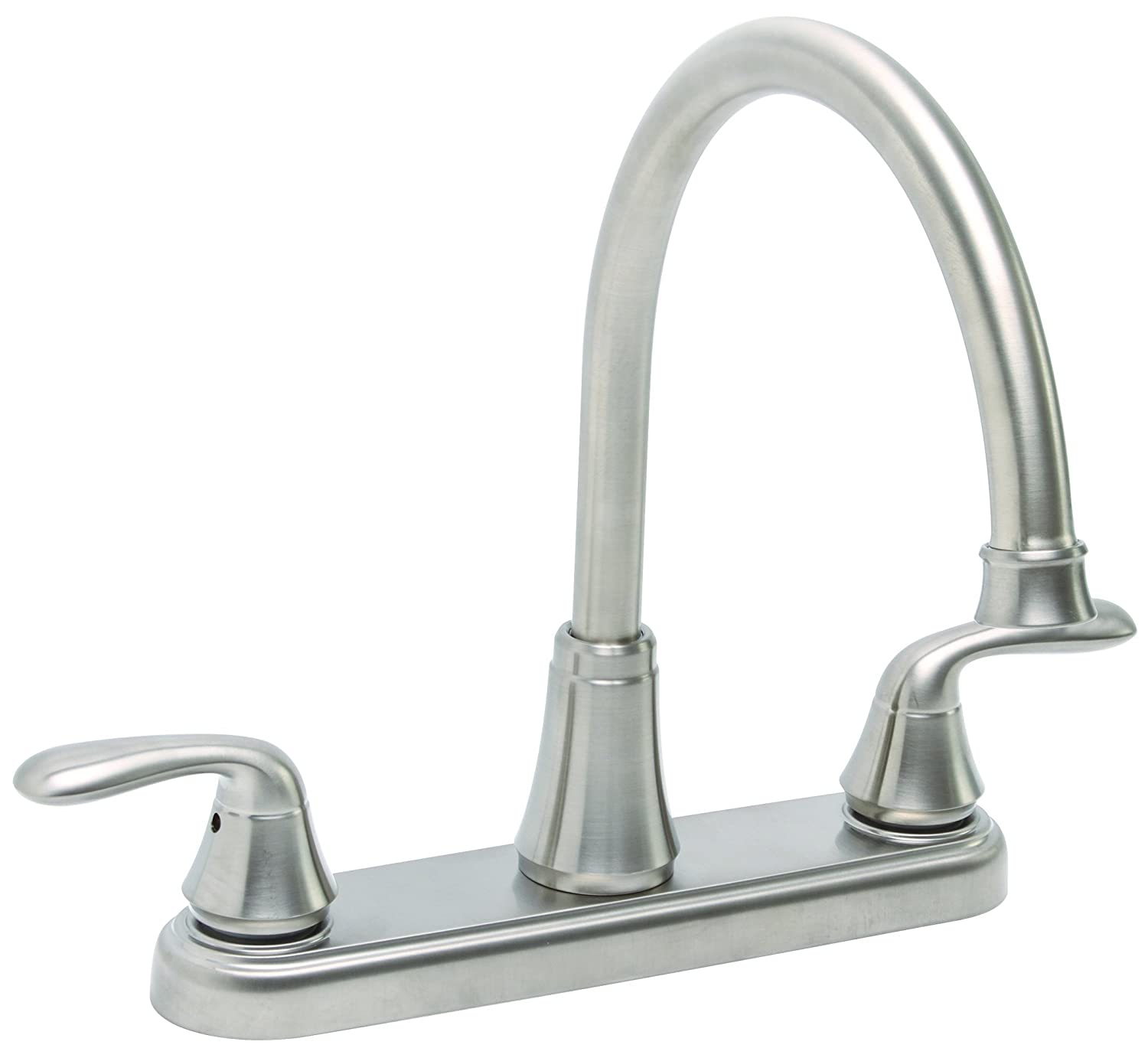 outlet Premier 126966 Waterfront Kitchen Faucet With Two Handles, Brushed Nickel,  Lead Free