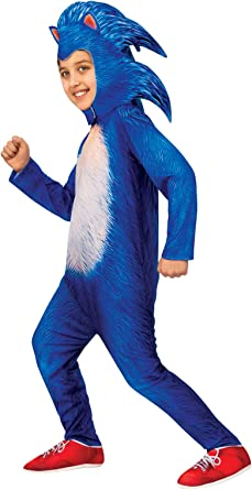 Amazon Com Sonic The Hedgehog Boys Deluxe Movie Costume Toys Games