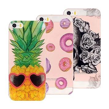 coque iphone 5 ananas rose