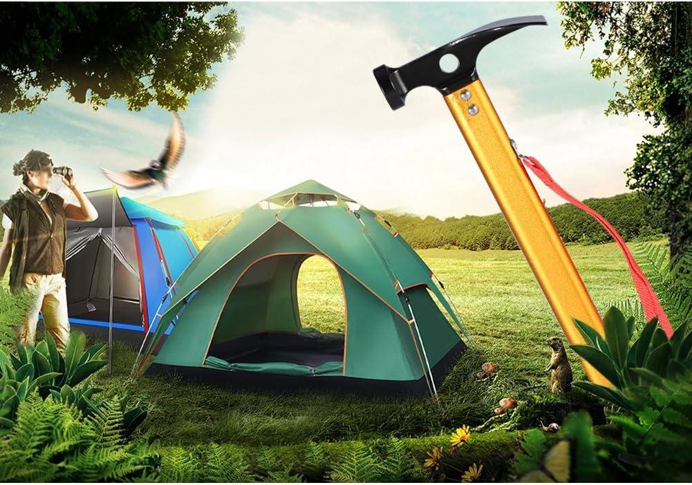 Alomejor Extracteur de Tente de Camping Tente dextracteur de Piquet de Maillet Outil Multifonction pour Piquets de Tente