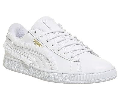 Puma Basket Classic Frill Damen Sneaker Weiß: Amazon.de: Schuhe ...