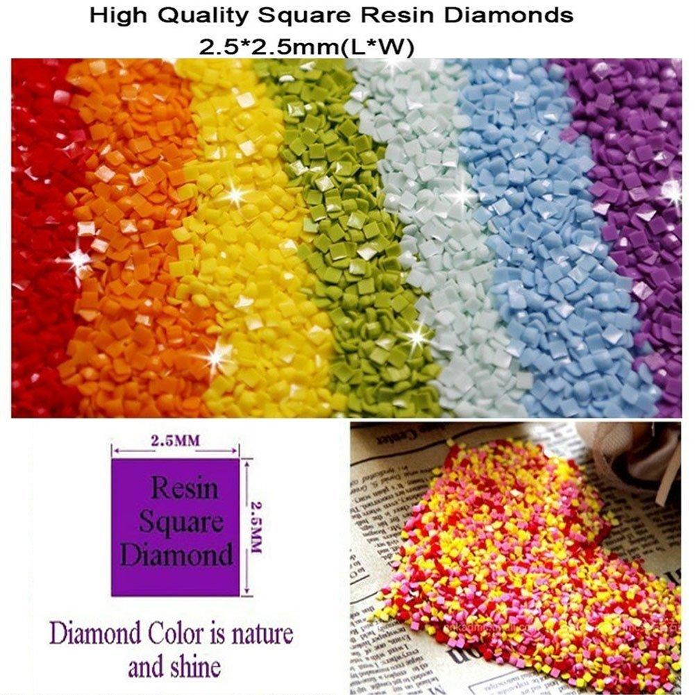 Dinosuar Diamond Painting Kits Square Full Drill Diamond Dotz Kits for Adults (Purple Dragon, 19.6''29.5'') by wanxing (Image #2)