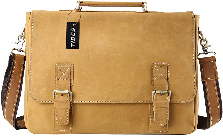 mature leather bag