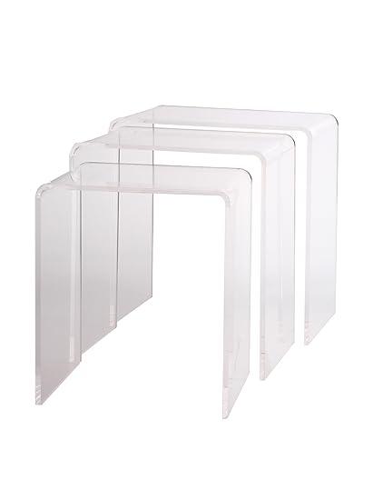 Amazon pure dcor acrylic nesting tables set of 3 kitchen pure dcor acrylic nesting tables set of 3 watchthetrailerfo