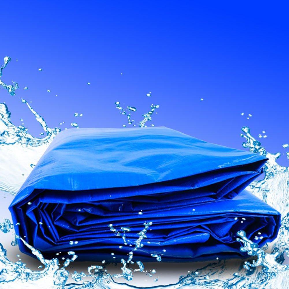 YXYX Wasserdichte Zelt Splice Markise Sun Shade Visor Plane Heavy Duty Picknick-Matte Sonnenschutz Falle Regendichte Boden Blattabdeckungen Schuppen Tuch-Blau, 150G   M² (größe   4  15m)