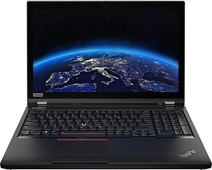 "Lenovo ThinkPad P53 Workstation Laptop (Intel i7-9750H 6-Core, 64GB RAM, 1TB SATA SSD, Quadro T1000, 15.6"" Full HD (1920x1080), Fingerprint, Bluetooth, Webcam, 2xUSB 3.1, 1xHDMI, SD Card, Win 10 Pro)"