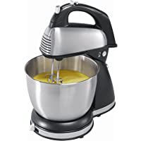 Hamilton Beach 64650 6-Speed Classic Stand Mixer, Stainless Steel, Stainless steel (Certified Refurbished)