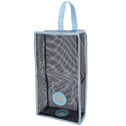 outgeek Dispensador de bolsas de plástico de almacenamiento de comestibles de malla para colgar para cocina