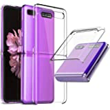 EUDTH Galaxy Z Flip Case, Ultra-Thin Foldable Transparent Hard Plastic Back Cover Shockproof Protective Case for Samsung…