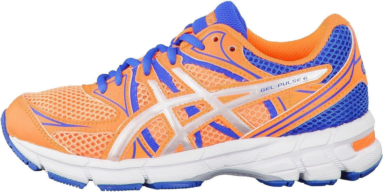 Asics Gel-Pulse 6, Zapatillas de Running para Niños, Flash Orange Silver Blue, 35.5 EU: Amazon.es: Zapatos y complementos