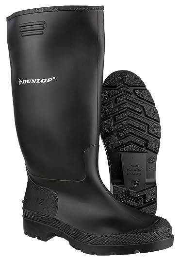 quality design 8849d 097a9 Dunlop - Stivali di gomma da uomo con gambale alto, colore nero