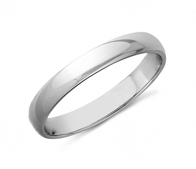 Amazon Queenwish 3mm White Tungsten High Polished Wedding