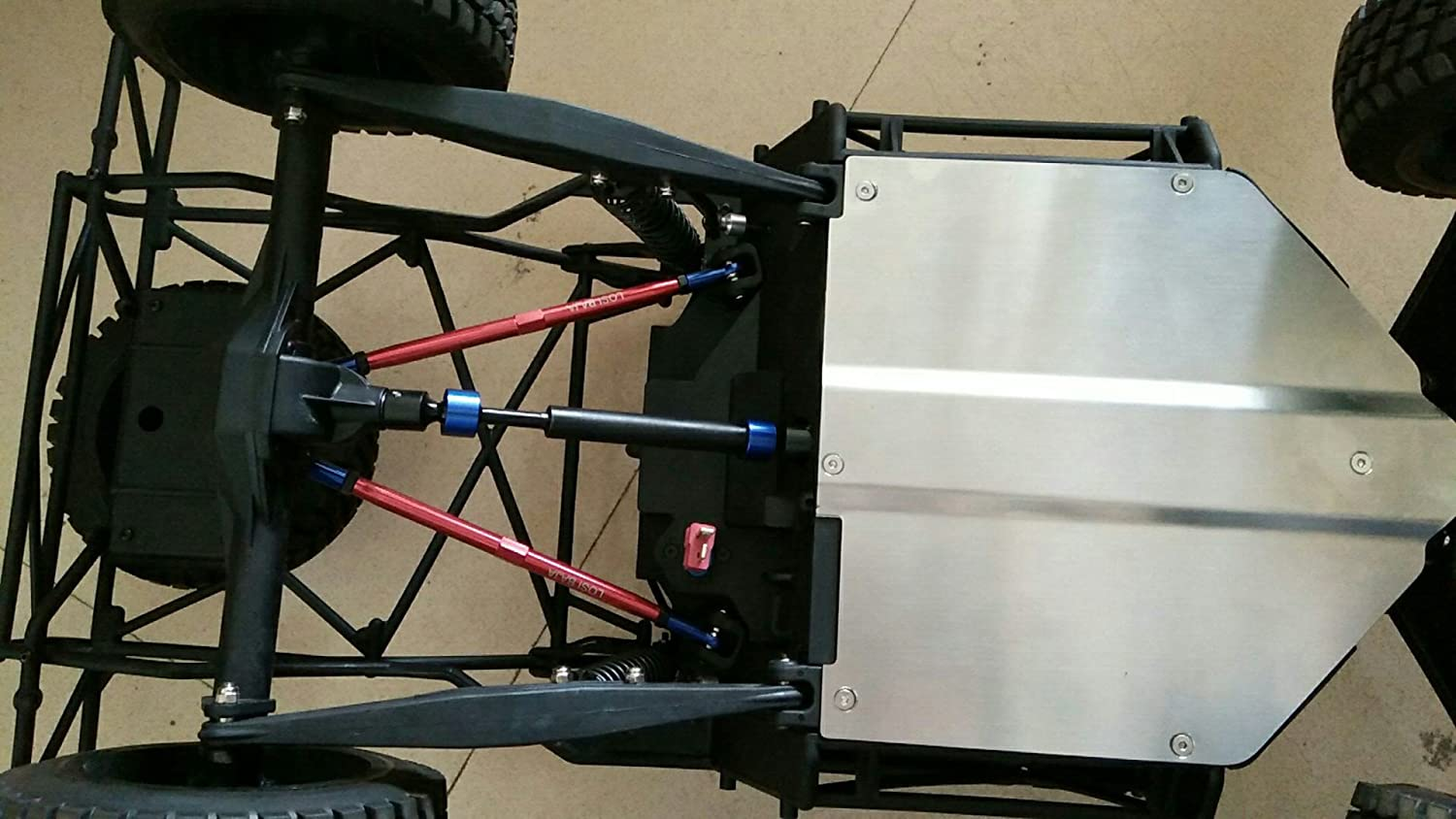 1/10 Losi Baja Rock Rey Chassis Stainless Steel Skid Plate Chassis Protect Armor Raidenracing