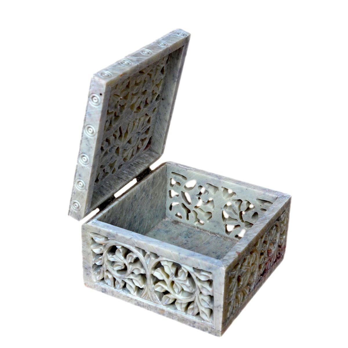 Hashcart Indian Artisan, Handmade & Handcrafted Stone Jewelry Box/Jewelry Storage Organizer/Trinket Jewelry Box/Gift Box with Traditional Design by Hashcart (Image #3)