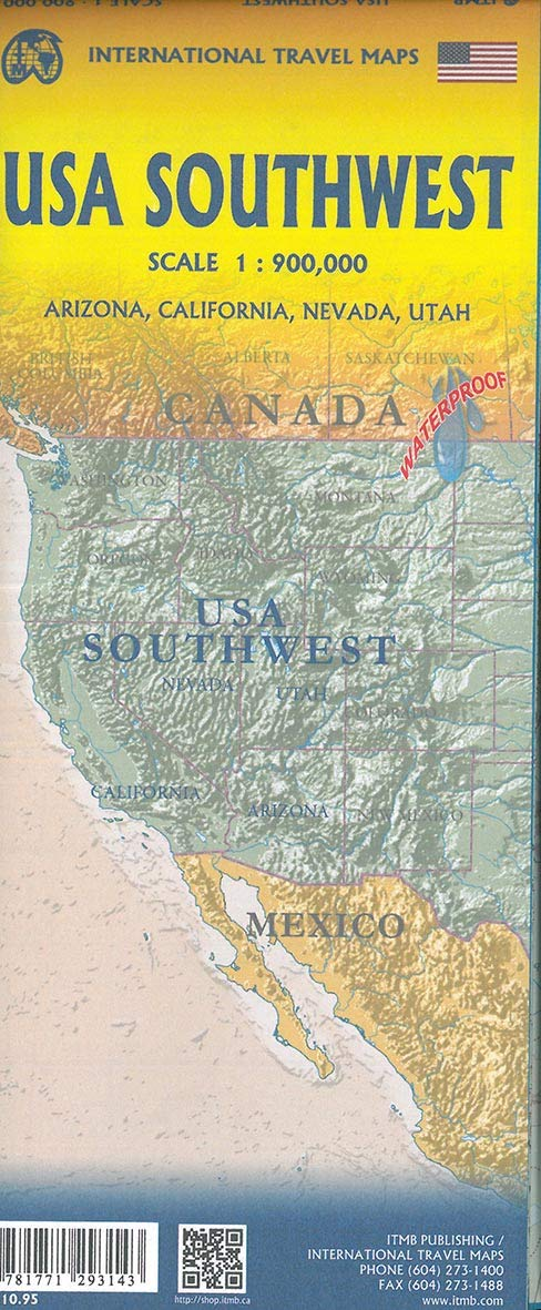 USA Southwest 1 : 900 000: Arizona, California, Nevada, Utah ...