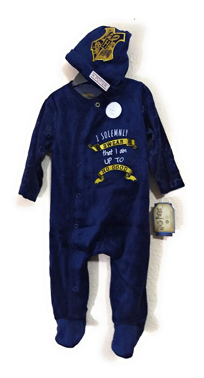 New Official Licensed Harry Potter Baby Clothes Sleepsuit Hat 0 to 18 Months