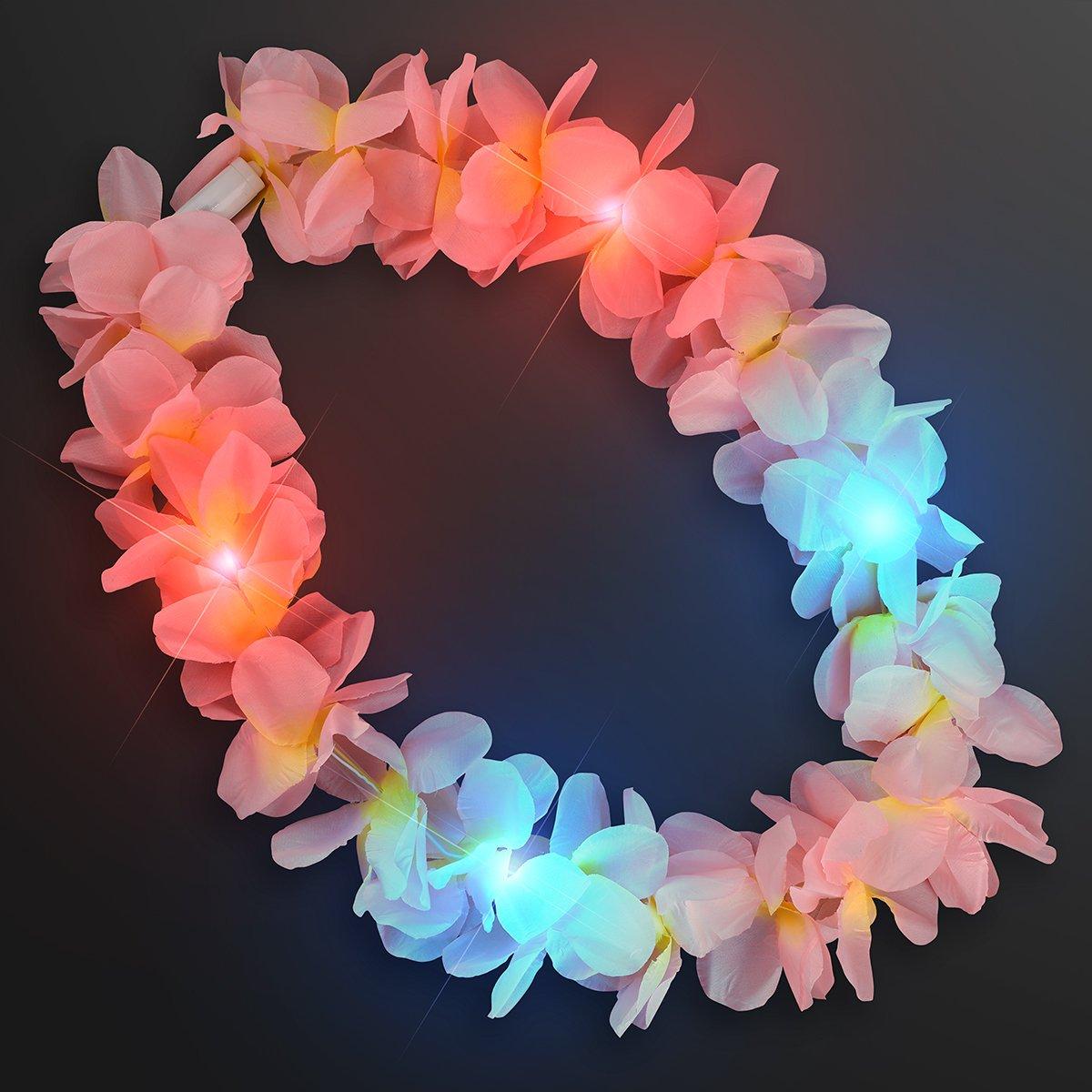 Large Assorted Light Up Hawaiian Leis with Flashing LED Lights (Set of 24) by FlashingBlinkyLights (Image #4)