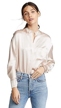 9c125b7699078 Amazon.com  Vince Women s Single Pocket Blouse  Clothing