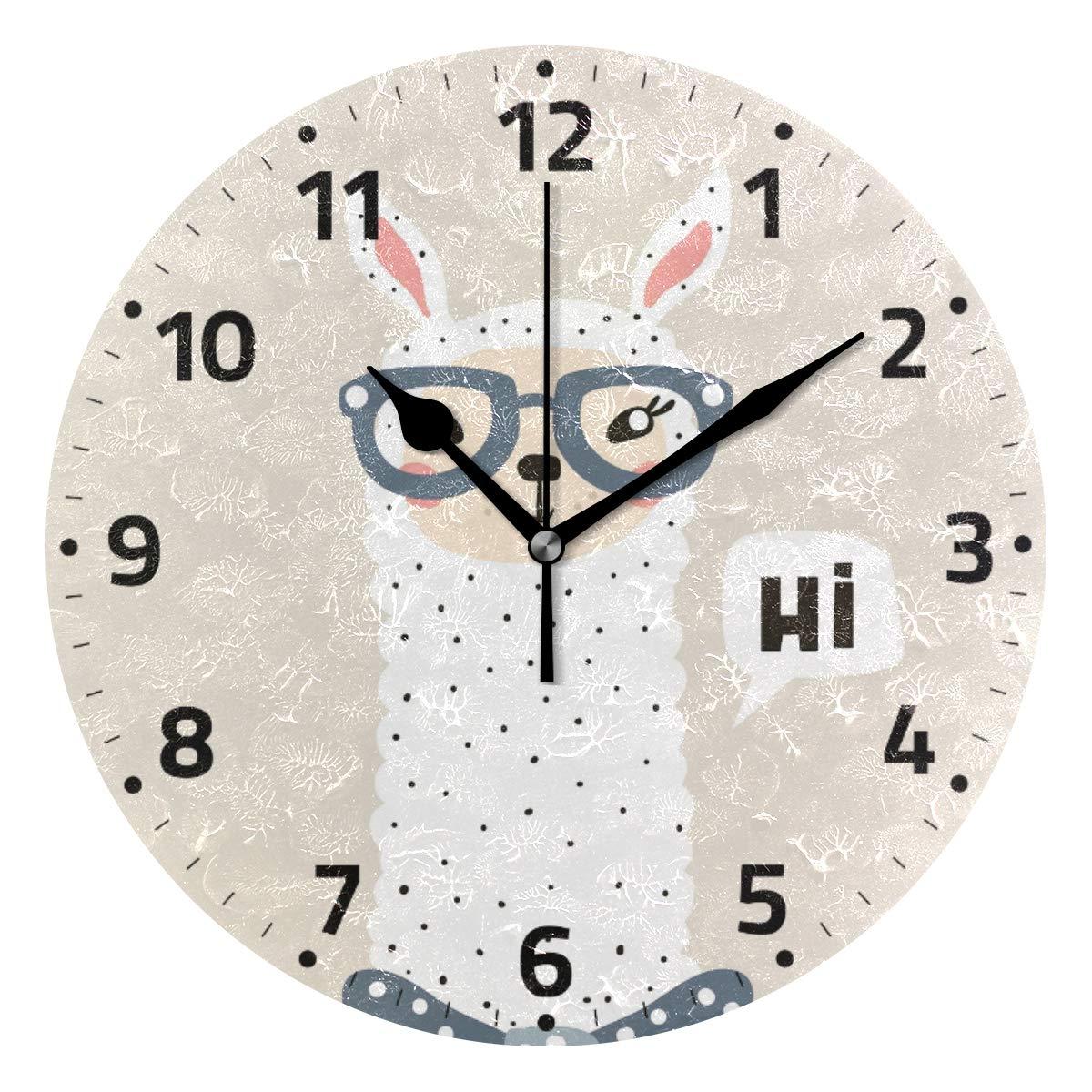 Mnsruu - Reloj de Pared Redondo con Llamas y Gafas de Sol, Pintura ...