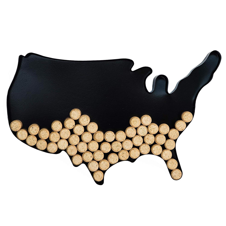 Decorative Metal Wine Cork Holder - USA Map Shaped Vino Cork Cage Storage on map of mexico classroom, shoes storage, rolled plan storage, tools storage, magazine holders storage,