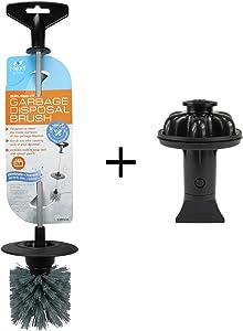 Brush. It (10927A) Garbage Disposal Cleaning Brush & Disposal Genie II (Black) Combo I Kitchen Sink Drain Splash Guard I Dish Soap Reservoir I Strainer & Stopper I Food Scraper