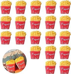KuuGuu 20 PCS Miniature Food French Fries ,1/12 Scale Dollhouse Decoration Kitchen Accessories