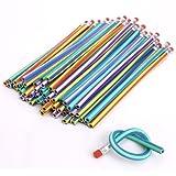 CCINEE Soft Flexible Bendy Pencils Magic Bend Kids Children School Fun Equipment For Party Bags Fillers Pack of 20