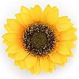 髪飾り 黄 イエロー 向日葵 ひまわり 花 髪留め クリップ 安全ピン