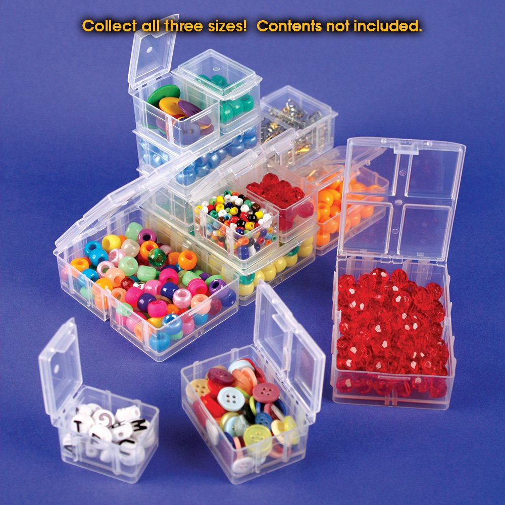Perfect for little things like beads Medium Connect-A-Box/® 12 pcs from Cottage Mills 2 Packages of 6. Small item storage system that connects and stacks findings and parts