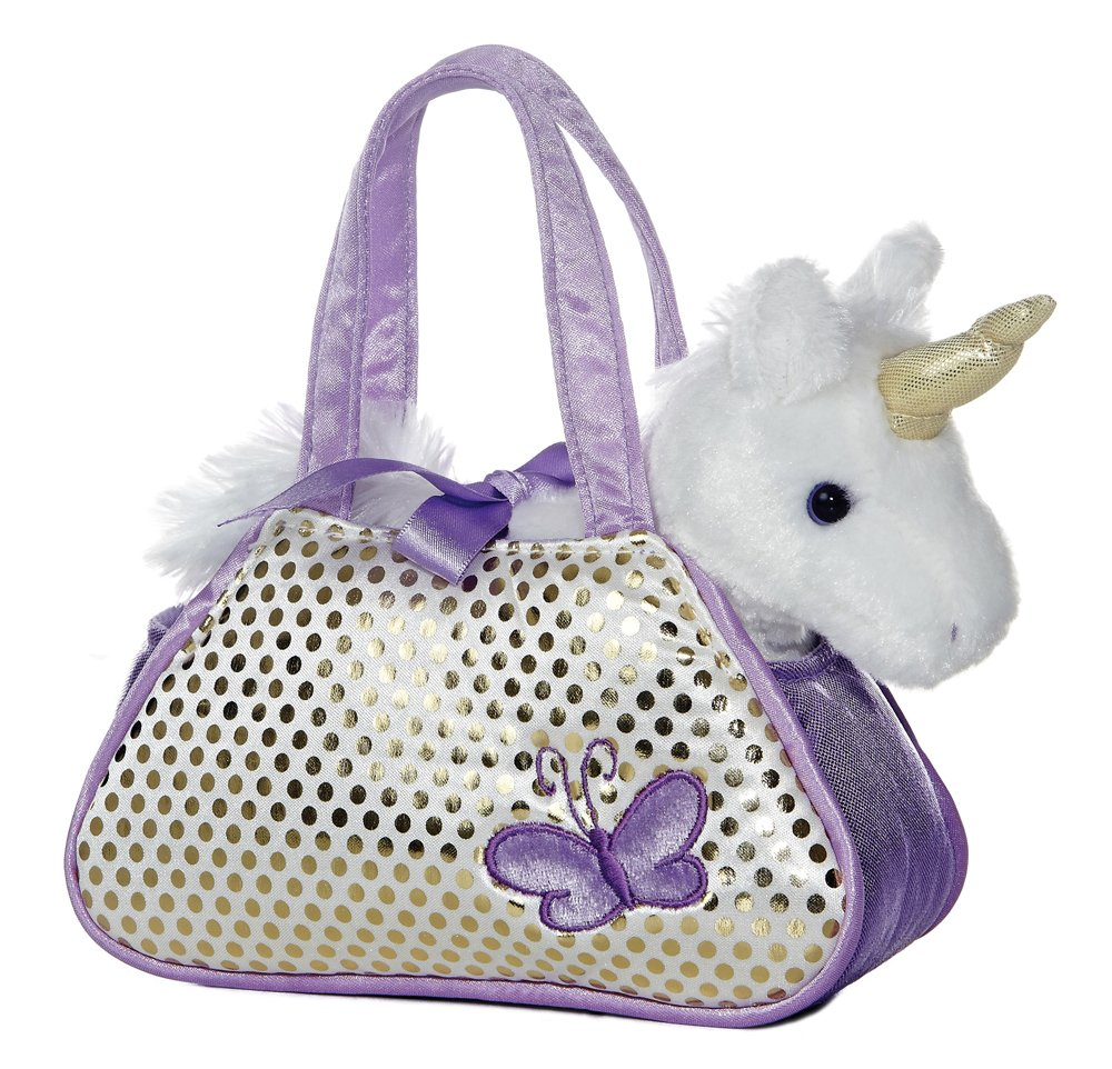 "Unicorn Fancy Pals Purse with 8"" Unicorn (Full pack with toy) 3"