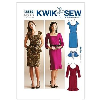 Kwik Sew K3839 Kleider Schnittmuster, Größe xs-s-m-l-xl: Amazon.de ...