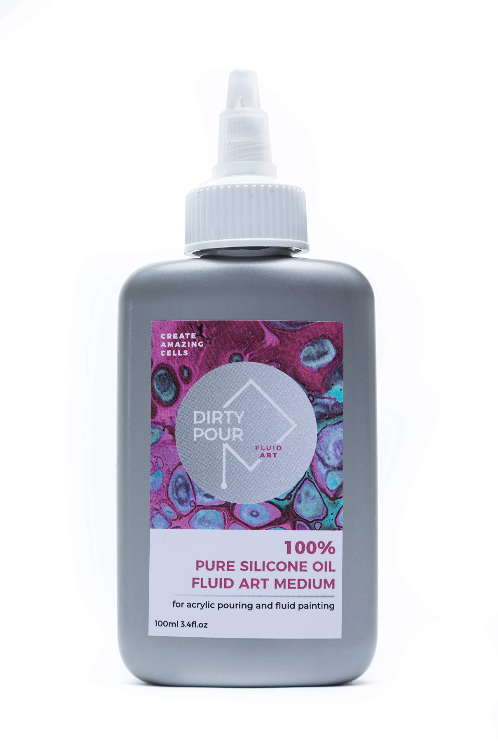 100% Pure Silicone Oil Fluid Art Medium | Acrylic Flow and Pouring Paint |Create Amazing Cells | Liquid Silicone| Australian Art Supplies