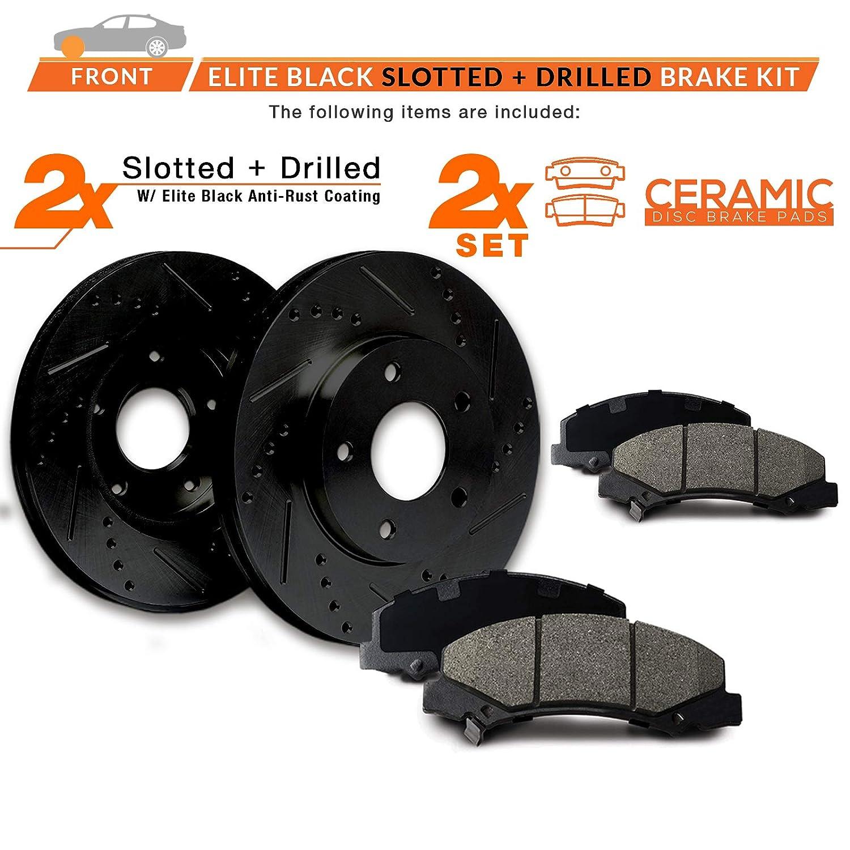 KT023581 Fits: 1998-2000 323i 1992-1995 325i E-Coated Slotted Drilled Rotors + Ceramic Pads Max Brakes Front Elite Brake Kit 1996-1998 328i 2001-2005 320i