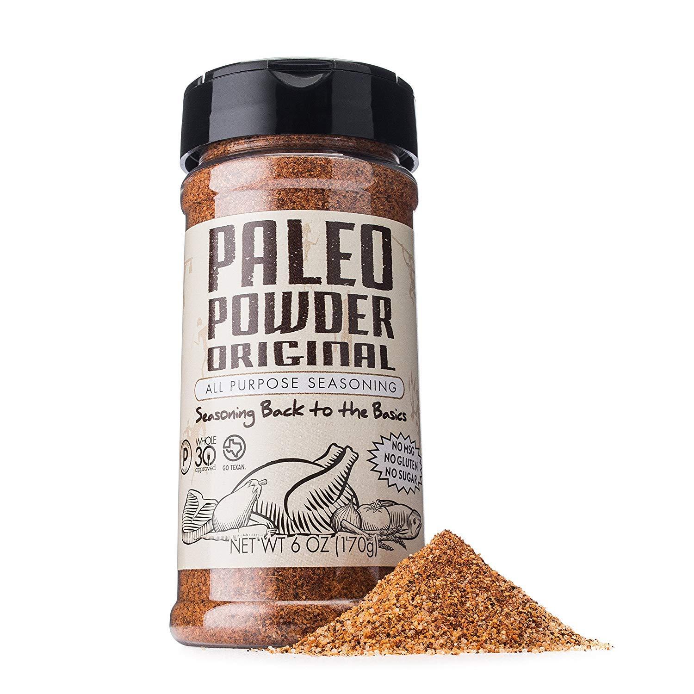 Paleo Powder Todos los fines condimento sabor original. La primera y original Paleo sazonar la comida grande para todas las dietas Paleo!