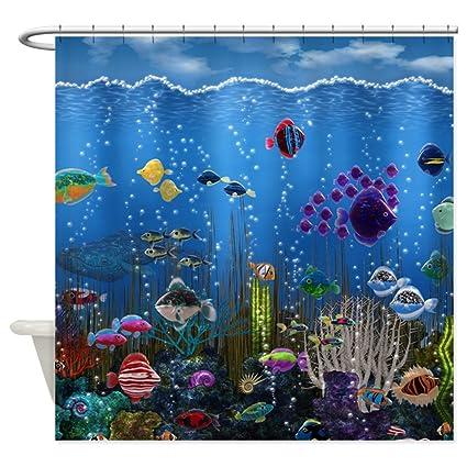 Amazon.com: CafePress Underwater Love Shower Curtain - Standard ...
