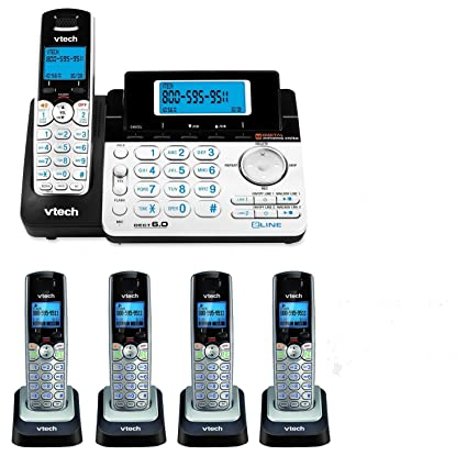 Amazon.com : VTech DS6151 2-Line Expandable Cordless Phone with ...