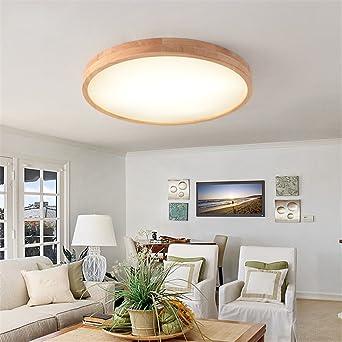KAMELA LED feste Holz-Leuchte runder einfacher Mode Balkon Korridor ...