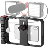 Neewer Plastic U Rig Smartphone Video Rig, jaula de filmación, soporte de trípode con estabilizador de video para teléfono pa