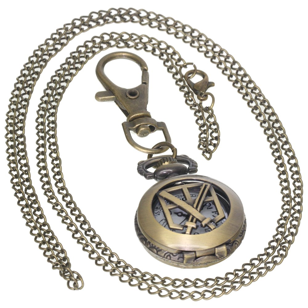 Amazon.com: Reloj de bolsillo de bronce antiguo para hombre ...