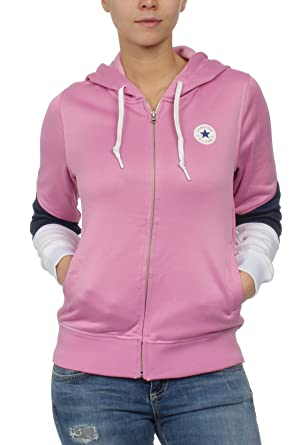 Converse Damen Zipper CORE BLOCKED FULL ZIPP HOODIE 10004542 523 Pink